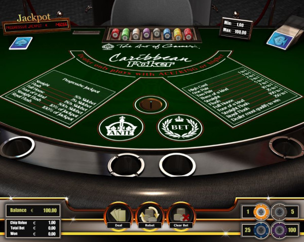 Caribbean Poker Screenshot