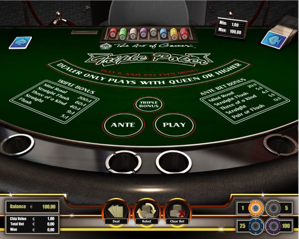 Triple Poker Screenshot