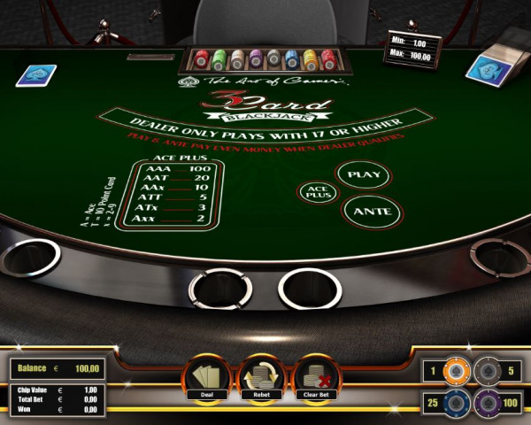 3 Card Blackjack Screenshot