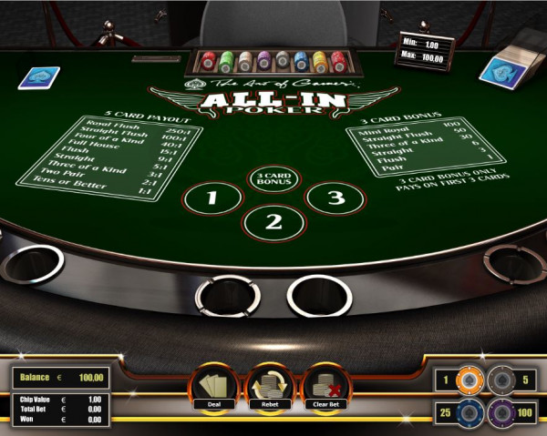 All In Poker Screenshot