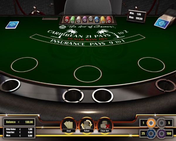 Caribbean Blackjack Screenshot