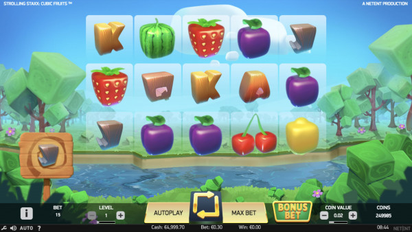 Strolling Staxx: Cubic Fruits Screenshot
