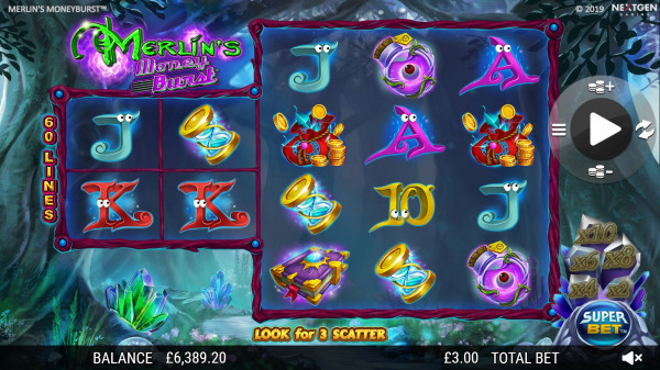 Merlin's Money Burst Screenshot