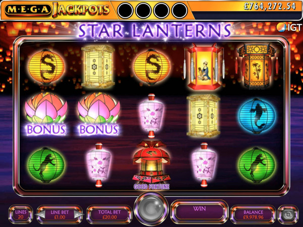 Mega Jackpots Star Lanterns Screenshot